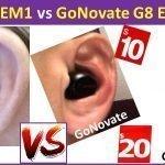 Mpow EM1 vs GoNovate G8 cheap bluetooth Earbuds below dollar 20