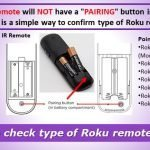 How to check type of Roku remote - IR remote or point anywhere remote