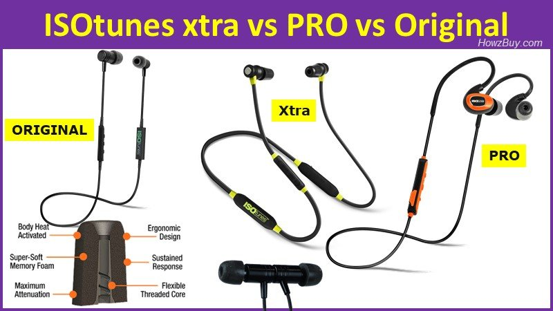 ISOtunes xtra vs pro vs Original headphones - Which one to Buy & Why