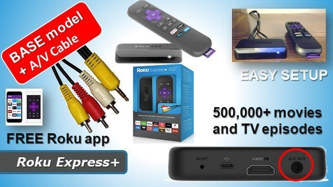 Roku Express+ review - roku streaming for old TV sets wth AV cable