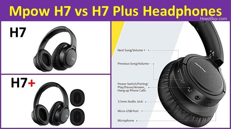 Mpow H7 Plus Bluetooth Headphones controls review