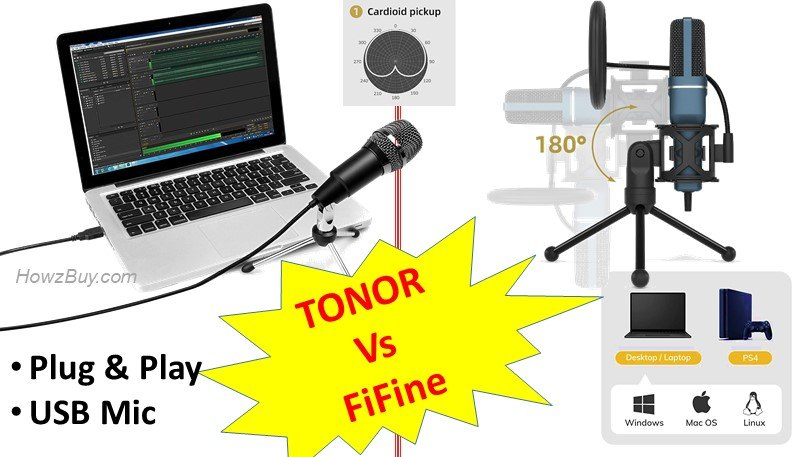 USB Gaming Condenser Microphone - Fifine Vs TONOR TC-777 Below $50