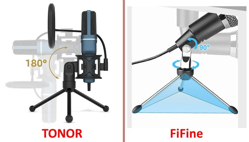 USB Gaming Condenser Microphone Tonor vs fifine