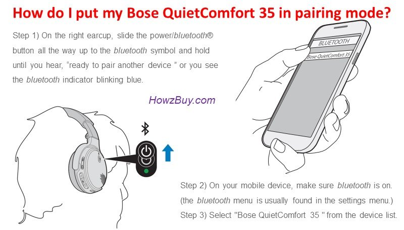 How do I put my Bose QuietComfort 35 in pairing mode