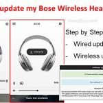 How do I update my Bose Wireless Headphones?