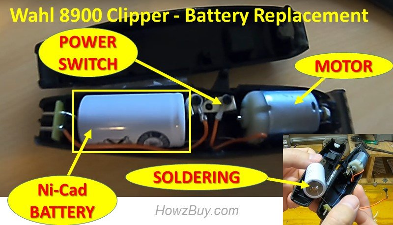Wahl 8900 Clipper - How to replace Battery guide