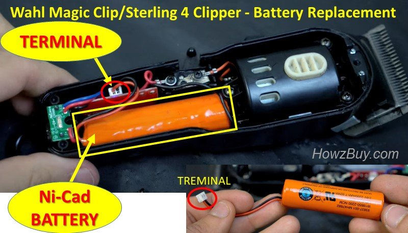 Wahl Magic Clip Sterling 4 Clipper - How to replace Battery guide